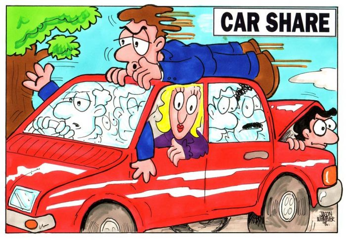 Car Share Cartoon